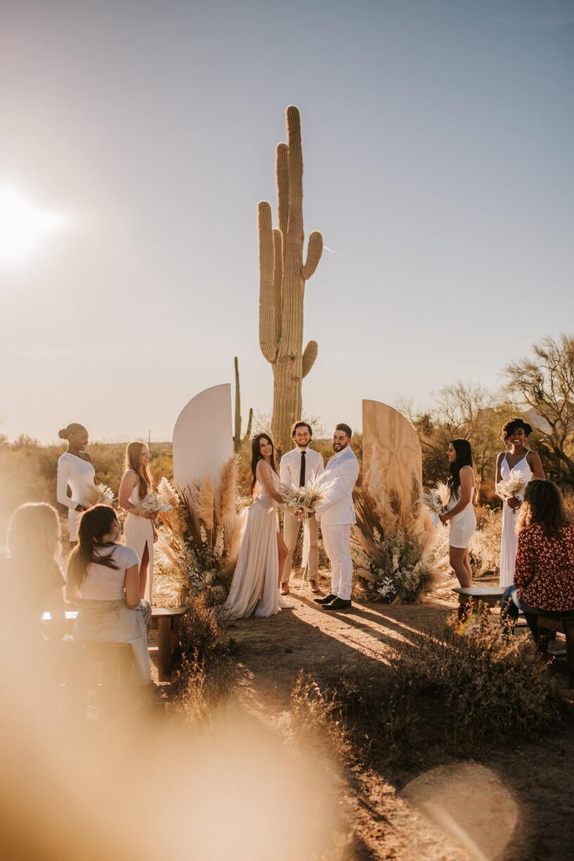 modern arizona wedding in the desert